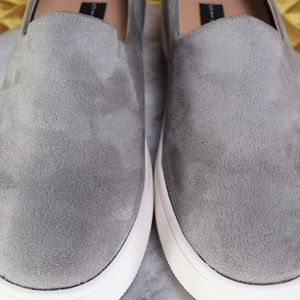 cc2196cbc20 Steve Madden Shoes - Steve Madden Hilda Gray Suede Fashion Sneakers NEW